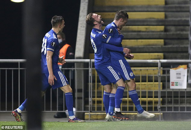 Leicester looked to be heading for defeat until Vardy drew them level for the third time
