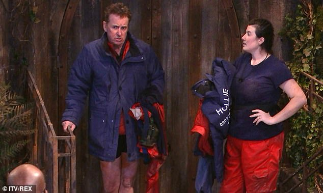 Disappointed: Shane and Olympian Hollie Arnold struggled through the Wicked Waterways task and only managed to get two out of six stars, the worst result for a trial this series