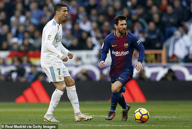 Modern day rivals Cristiano Ronaldo and Lionel Messi both make the top 10 but neither have managed to win the World Cup for their respective countries