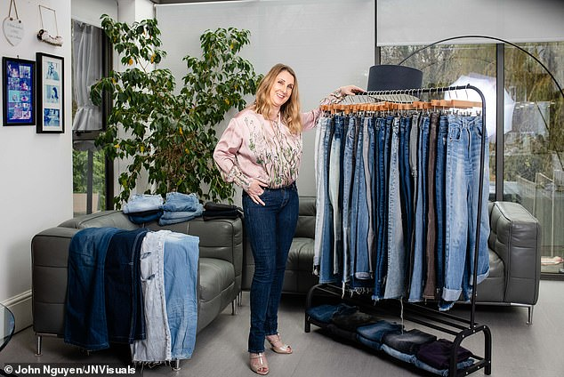 Sam Remer, 51, a former M&S product stylist from north London. Since 2006 she's had her own business helping women to find the right jeans for their shape. She has over 60 pairs currently and rarely wears anything else