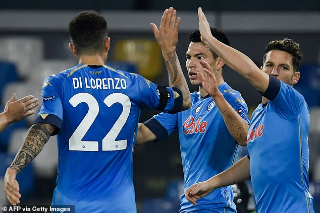 The Italians beat the Croatian side 2-0 which puts them top of their Europa League group