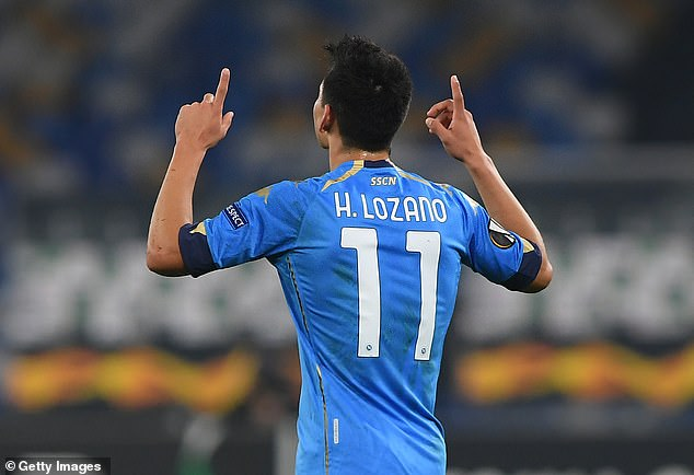 Hirving Lozano scored the second goal and pointed to the sky as he dedicated the strike to Maradona