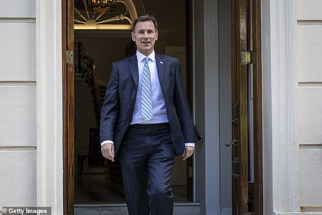 Mistake: In June 2019 the journalist accidentally said Jeremy Hunt's surname was C*** while chatting aboutwho should be the next Tory leader on BBC Two news (politician pictured)