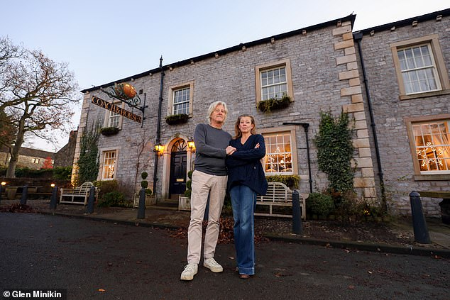 One parish council chairman, farmer Hayden Fortune, is not aware of any cases in his local villages of Bolton-by-Bowland, Gisburn Forest and Sawley (pictured, the owners of the Coach and Horses pub in the area)