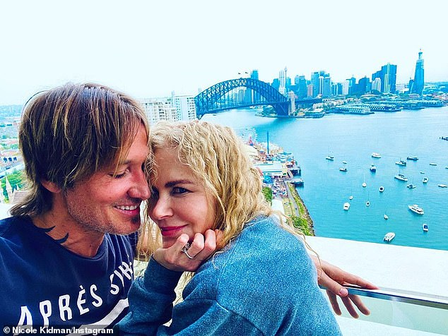 Relocating: Nicole has been living in Byron Bay on-and-off with her husband Keith Urban (left) and their two daughters since filming for the show began earlier this year