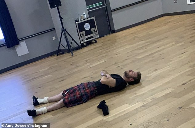 Innovative: The news of his infected leg comes as it was revealed that Strictly's wardrobe team have made an adult babygrow to stop him flashing viewers while dancing in a kilt this weekend