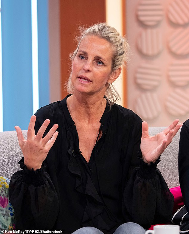 Opinion: Ulrika (pictured in April 2019) claimed stars openly flaunting their figures set an unfair ideal on older woman on what can be seen as the ideal physique