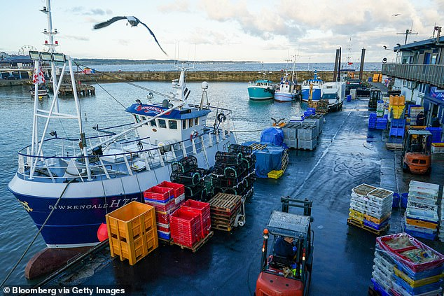Mr Barnier is meeting EU fishing ministers to discuss a possible compromise over their red line on access to British waters