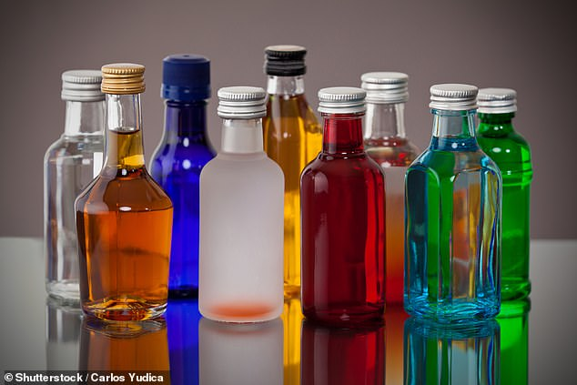 Another woman had to drink a lot of her mini alcohol bottles to get through security