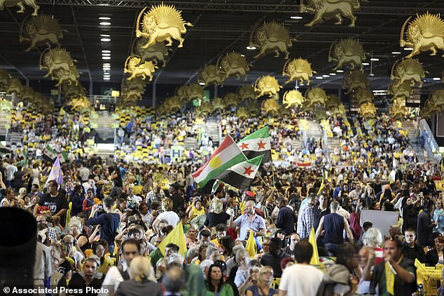 Thousands of exiled Iranians gathered in Villepinte, north of Paris, to listen to the speech by Maryam Rajavi, head of the National Council of Iranian Resistance in June 2014