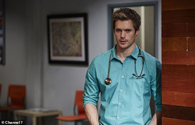 Familiar face: Kyle became known to Australian audiences in 2013 thanks to his role as Summer Bay's handsome doctor Nate Cooper. After leaving the series in 2017, he returned to England to star in the popular British soap Hollyoaks, but his character was killed off last year