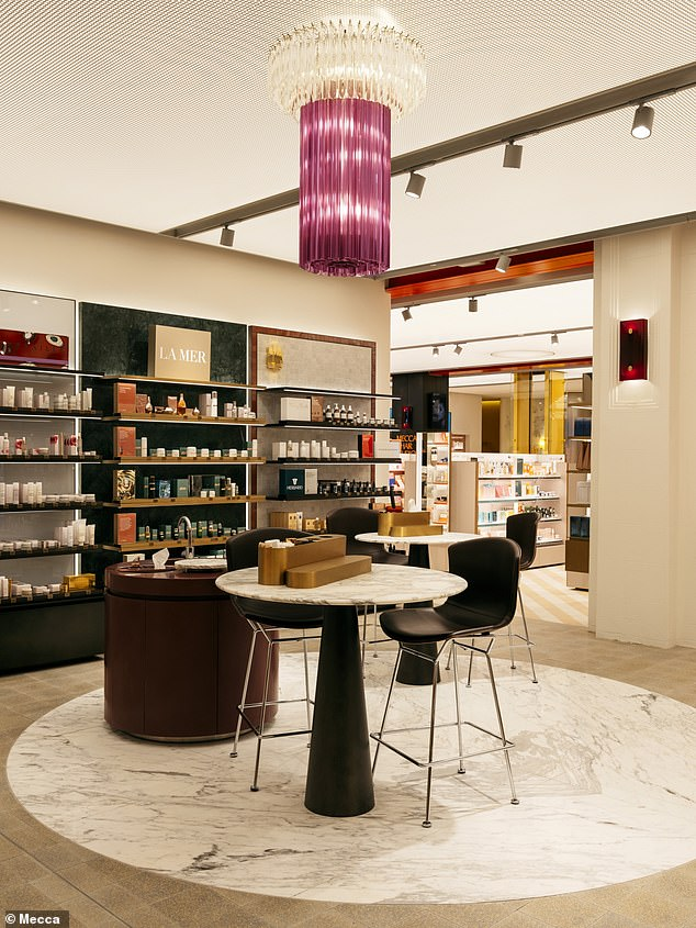 A third of the store is dedicated to bringing the products to life with the help of professionals