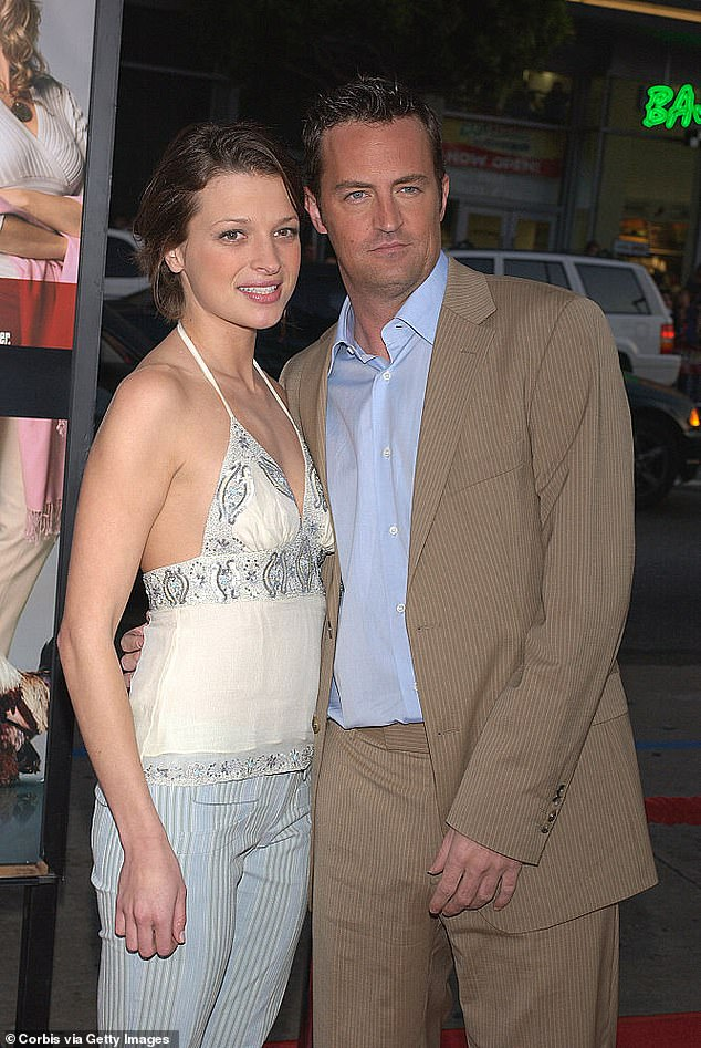 Split:Matthew and former fashion student Rachel Dunn had a 14 year age gap but dated for two years from 2003-2005 (pictured 2004)