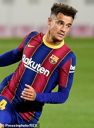 Philippe Coutinho earns £180,000-a-week after the contract signed following his move from Liverpool in 2018