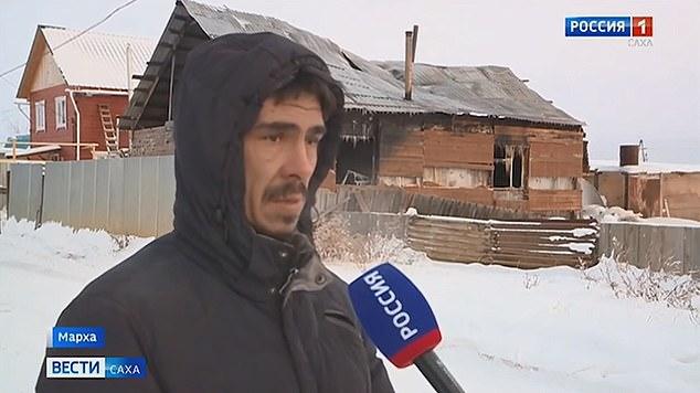 Gulnara's husband devastated husband Aleksey Kostelnyuk (pictured)was at work when the fire burst