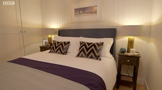 Their bedroom after: They were given back their space and the room had a stylish makeover