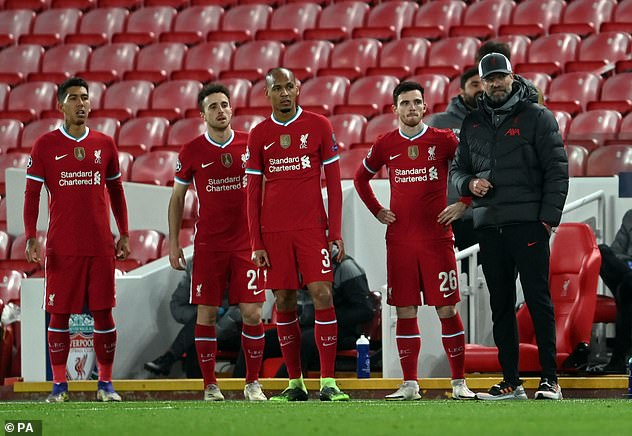 Klopp (right) has been critical but without the TV money he would not have been able to go out and spend £41million on Diogo Jota (second from left) as a deputy to Mohamed Salah