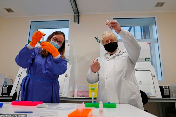 Visiting the Porton Down lab today, Boris Johnson admitted the brutal new Tiers are 'frustrating' for low-infection areas - but refused to change course insisting the rules must be kept 'simple'