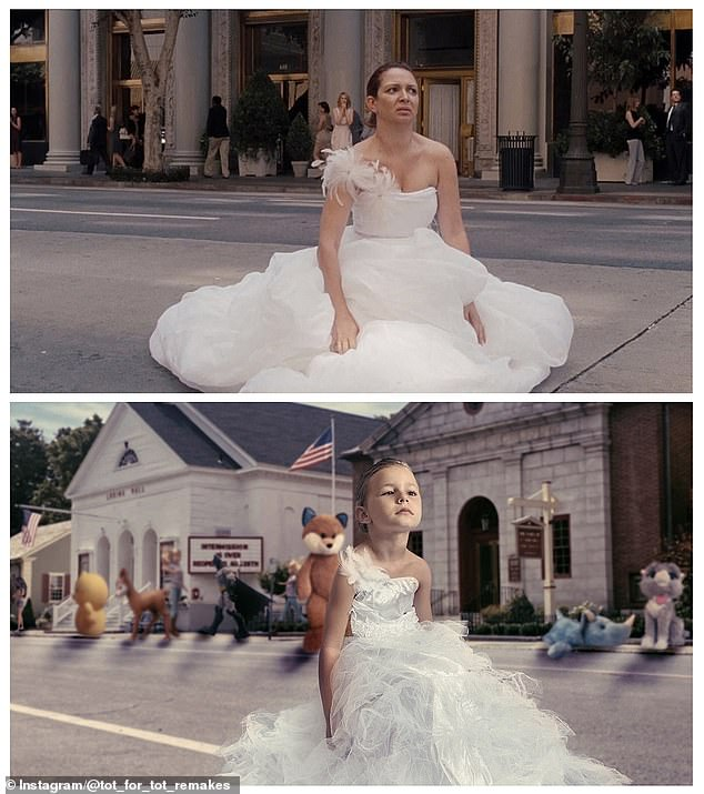 Bridesmaids: Matilda's recreation of this cringeworthy Bridesmaids scene is near perfect, and the toys acting as passersby work surprisingly well
