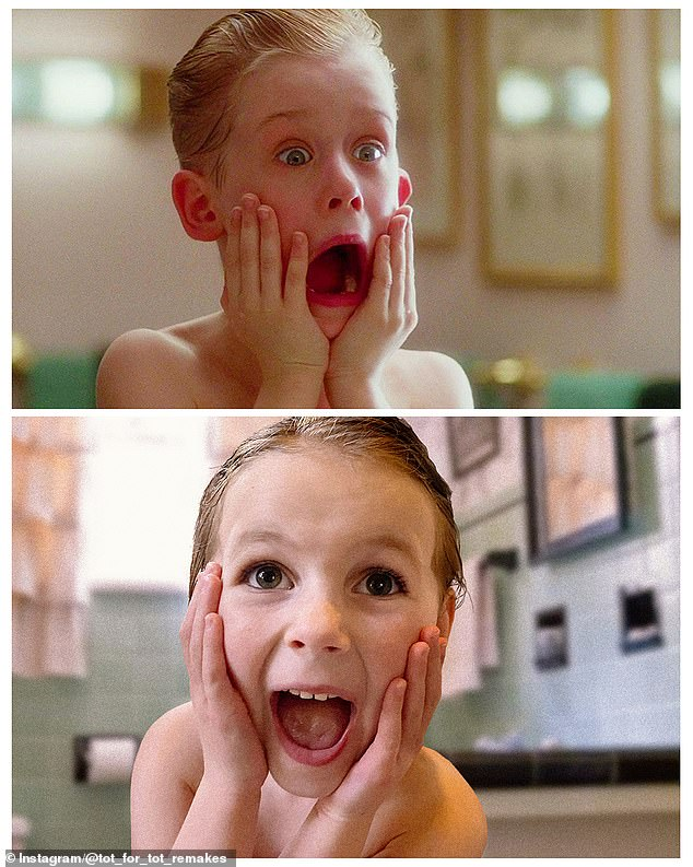 Home Alone: Shaving is never fun and Matilda reimagined the scream Kevin lets out in Home Alone after applying aftershave to his face