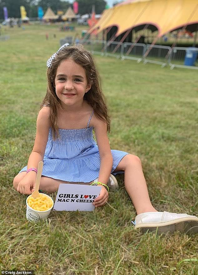Craig previously added that their daughter (pictured) is being an 'absolute star' and staying very brave and strong throughout her ordeal