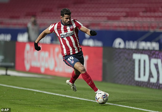 Costa tested positive for Covid-19 in September but displayed no symptoms when diagnosed