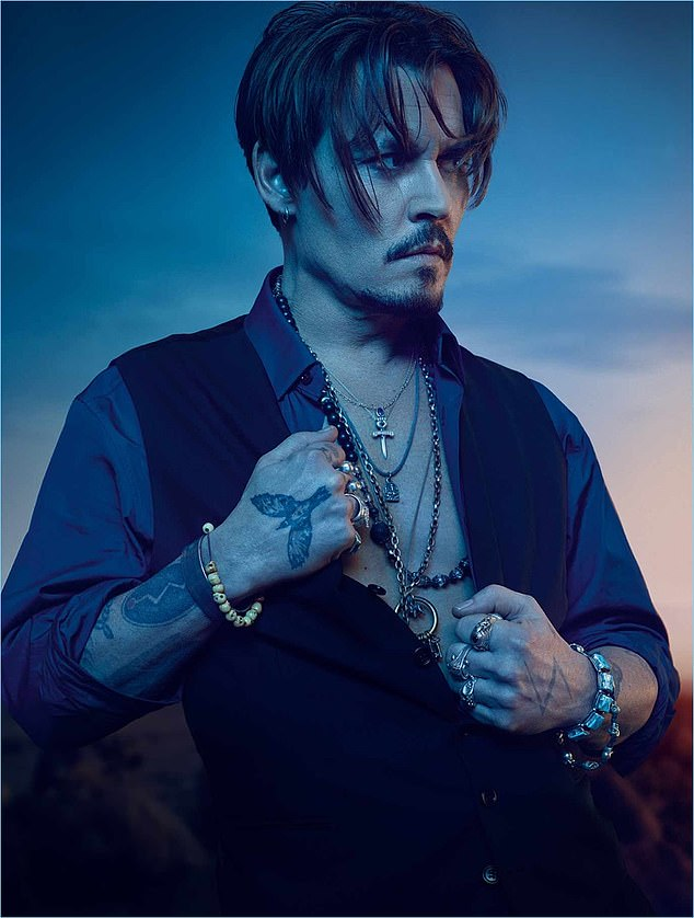 Johnny Depp fans are flocking to buy his Dior fragrance (pictured modelling for Sauvage) after he lost his 'wife beater' libel trial against The Sun newspaper