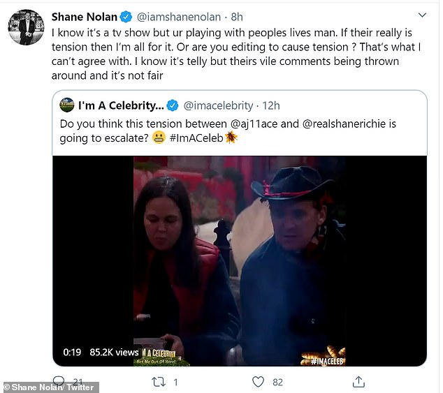 Fury: Shane Jr said, `` If there is really tension, I'm all for it.  Or do you edit to create tension?  This is what I do not agree with.  I know it's TV but there are vile comments