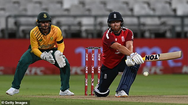 Jonny Bairstow finished England's victory off in style by hitting a last-gasp six