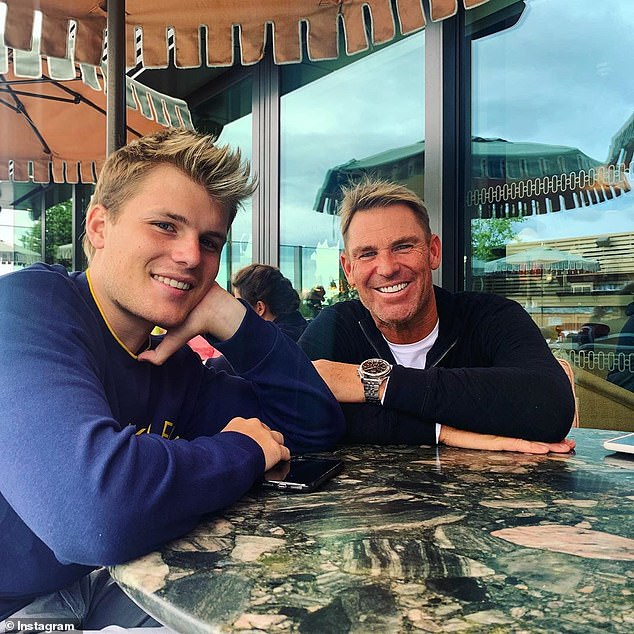 Not a bad dad: On Saturday, cricket legend Shane Warne defended his parenting skills following the 21-year-old's shocking revelation that he'd never tried soup, a meat pie, or even vegetables while growing up