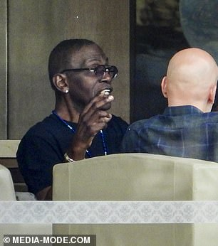 Name That Tune hosts Jane Krakowski and Randy Jackson have a heated discussion in Sydney