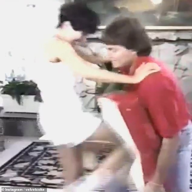 Self-defence: The matriarch, now 65, showed off her impressive self-defence skills by repeatedly kneeing Caitlyn, now 71, in the groin in the resurfaced video