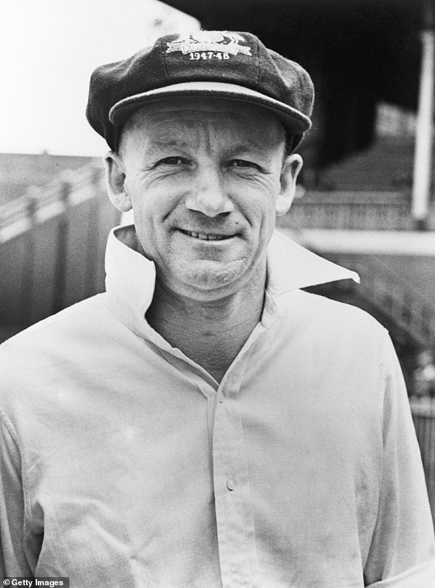 Legend: Another favourite was,'Sir Donald Bradman. I'm a cricket nut... it was like I'd died and gone to heaven,' he said of the legendary batsman (pictured), who passed away in 2001
