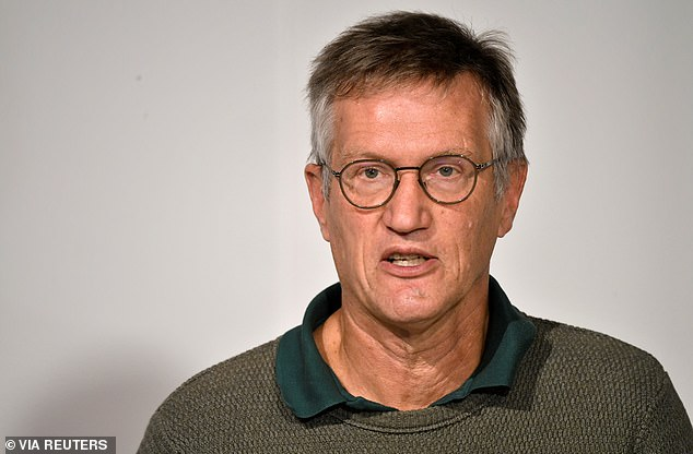 Anders Tegnell (pictured above, October 13) had previously claimed that Sweden would fare better than other Second Wave countries after implementing collective immunity.