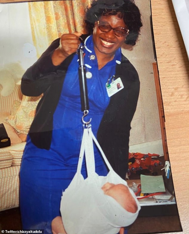 Sad: The Holby City star shared four beautiful photos of her mother and said she would be 'always with us'