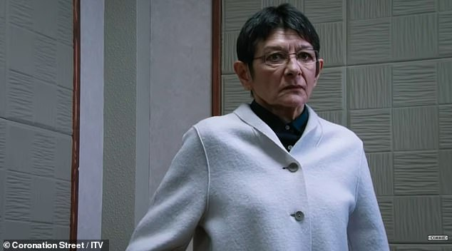 Verdict: Yasmeen Metcalfe (played by Shelley King) is seen on the stand to hear the verdict of his attempted murder trial in a dramatic teaser for the Coronation Street 60th anniversary special week