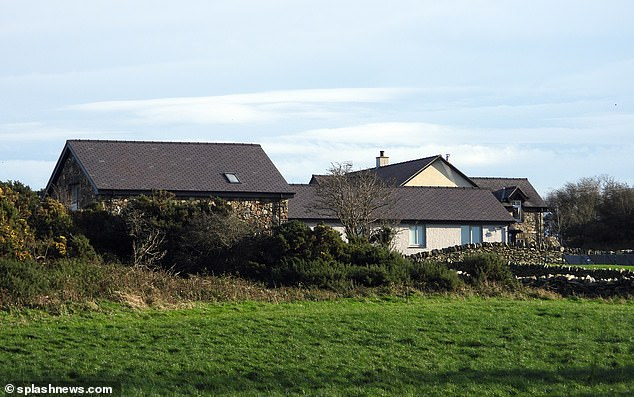 Rural: Another house believed to be used for the celebs isolation period was surrounded by countryside and open space