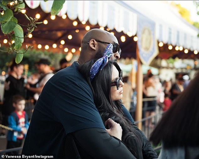 Love at first sight: Vanessa Bryant, 38, is paying tribute to her late husband Kobe Bryant on the 21st anniversary of their first meeting in 1999 calling it 'Love at first sight'