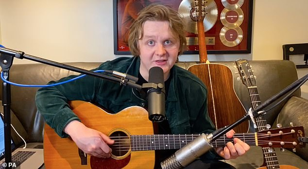 Best UK: Lewis Capaldi, 24, won the Best UK Award at this year's Specsavers Scottish Music Awards and performed an acoustic rendition of two songs from his home