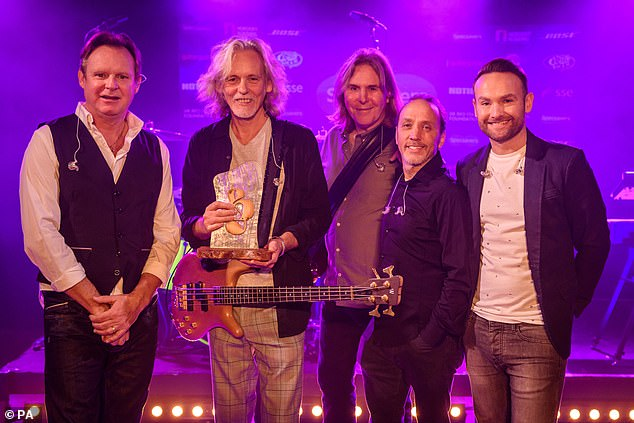 Outstanding Contribution:Wet Wet Wet collected the Outstanding Contribution Award and gave a performance of some of their biggest hits