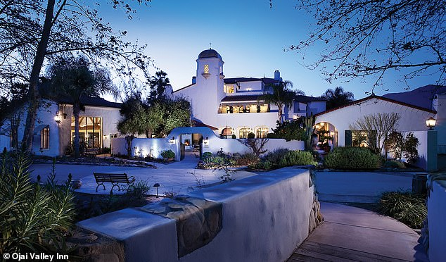 The conferences included a retreat at a luxury resort and spa in Ojai, pictured, in June 2018 where a room for the night costs upwards of $400-a-night