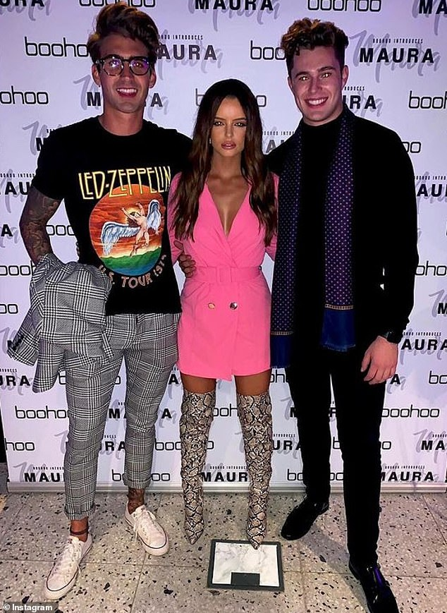 Ex:The former Love Island stars shared the photos on Saturday evening after Maura's ex Curtis Pritchard recently hit out at their romance