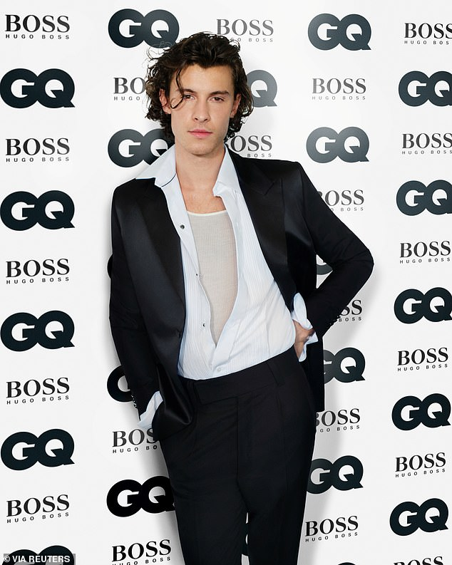 Self-care: The Wonder singer praised Cabello for being 'so strong, so clear and confident with her [body]' which in turn helped shift his perspective of his own body; pictured at GQ Men of the Year Awards November 2020