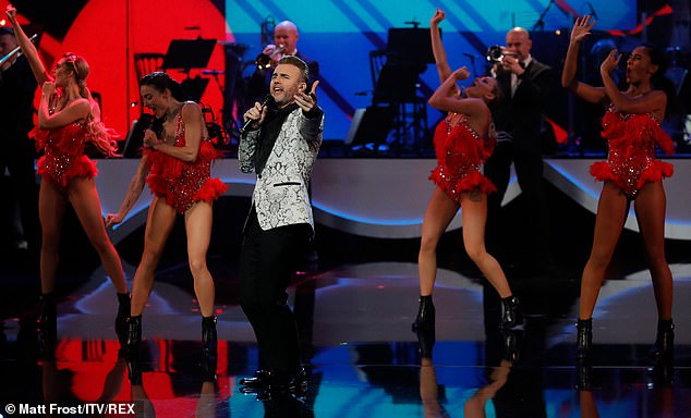 Special performance: There was also a solo performance from Gary Barlow