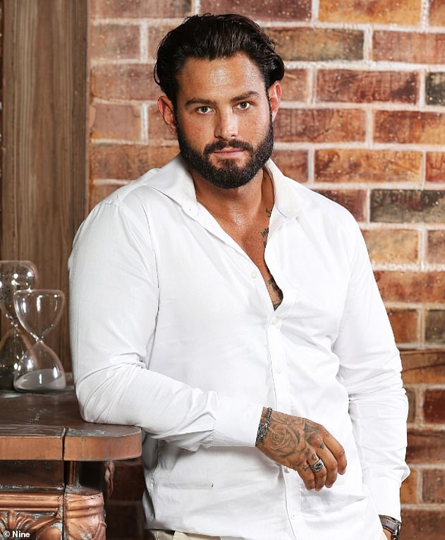 The way he was: Sam previously had designer stubble and well-styled hair. Halfway through filming MAFS, he grew out his stubble and sported a full beard (pictured)