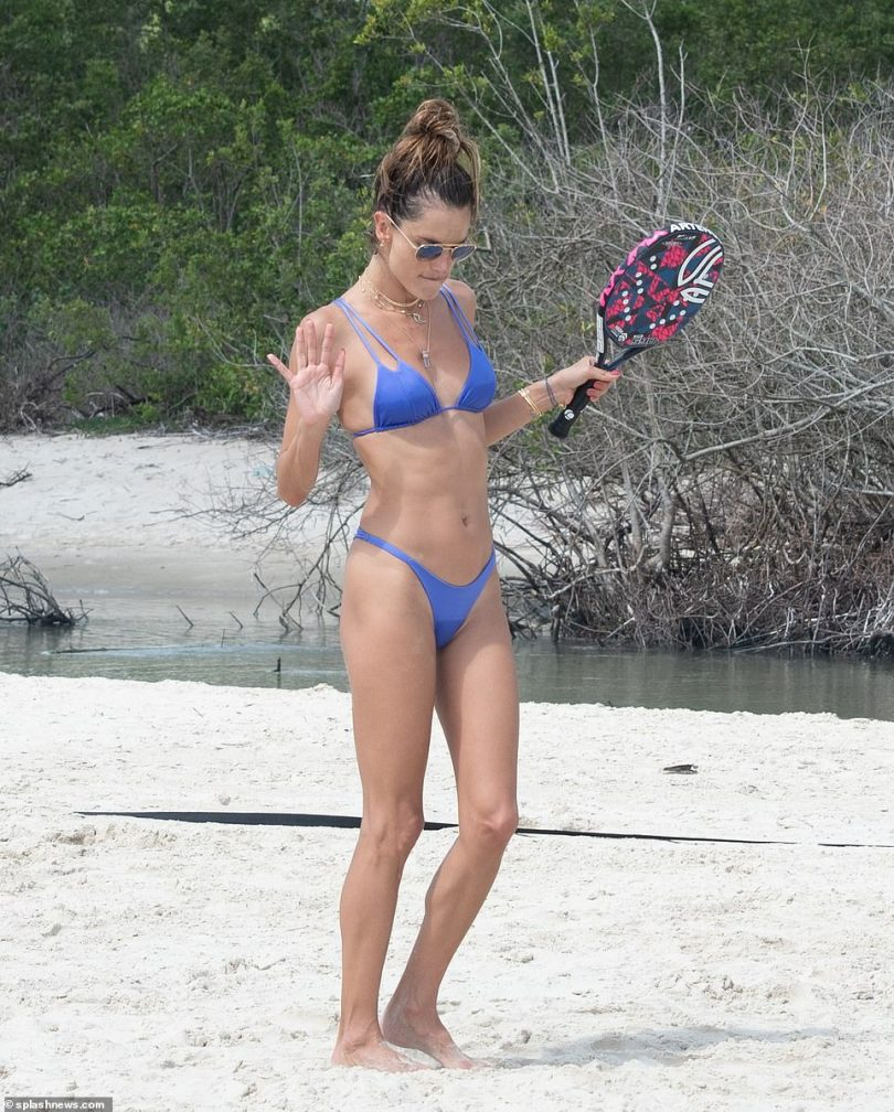 Got the moves: Ambrosio showed off her fun-loving side as she let loose after a good round of tennis