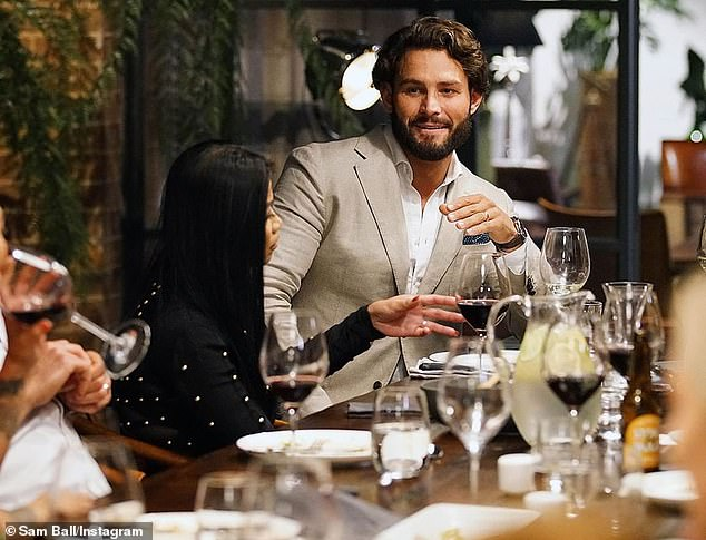 Staying low: Sam (pictured on MAFS in 2019) flew under the radar in the months that followed - before eventually returning to Instagram with a photo of himself looking very different