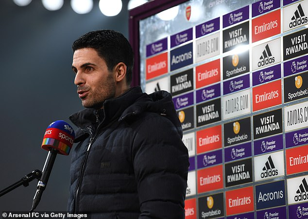 Mikel Arteta not worried about his position as Arsenal manager despite losing another game