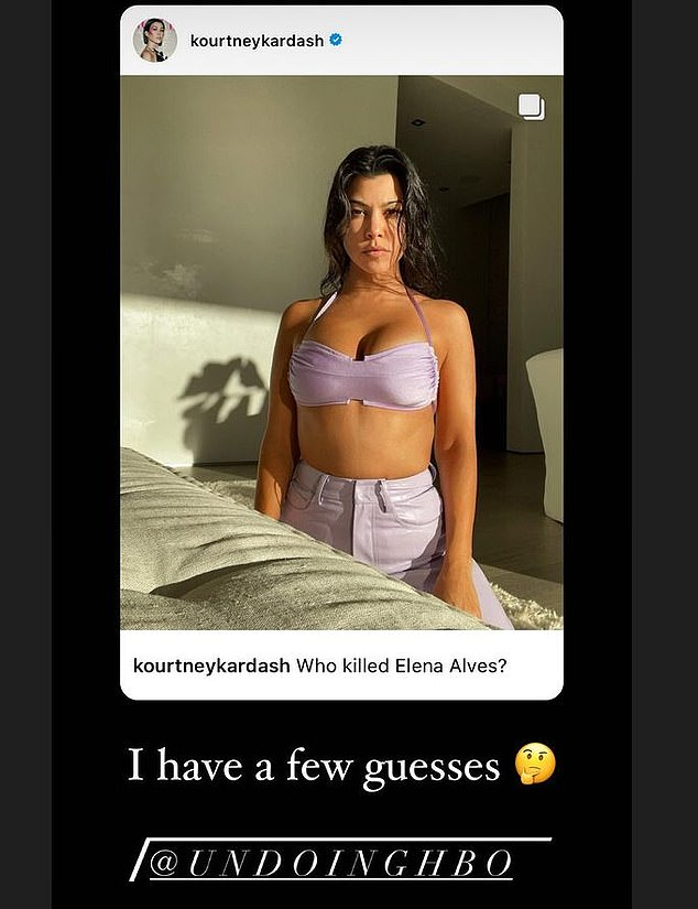 Narrowing it down: Kourtney shared that she has 'a few guesses' as to who did it