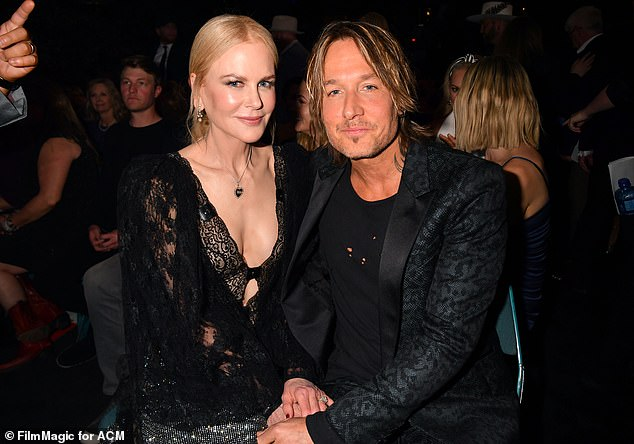 Going strong:Nicole and Keith were first introduced in January 2005 at G'Day LA, an event for Australians in Hollywood, and they married in Sydney on June 25, 2006. Pictured in 2019